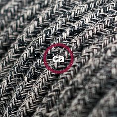 Textilkabel Le rund textilkabel glittrande flexkabel för belysning rl22 koppar