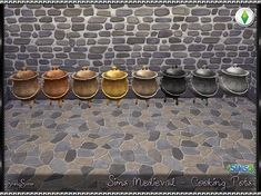 SrslySims | Sims Medieval - Cooking Pots
