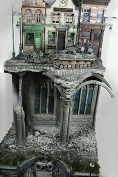 French Street 1/35 Scale Model Diorama