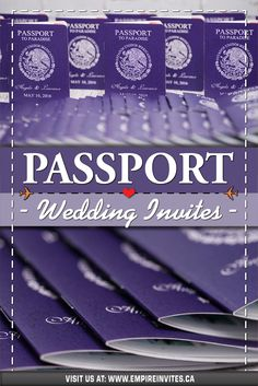 ☀️Purple passport wedding invitations for a destination wedding in Mexico! Wedding Invitations Canada, Passport Wedding Invitations, Wedding Invitation Design, Wedding Stationary, Cruise Ship Wedding, Punta Cana Wedding, Destination Wedding Inspiration, Wedding Abroad, Love Is In The Air