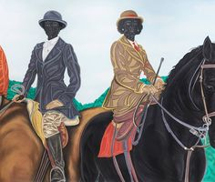 Toyin Ojih Odutola, 'Hunting Season (Mother and Daughter),' 2016. (Courtesy the artist and Jack Shainman Gallery, New York)