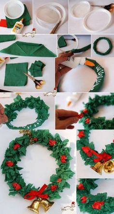 Decorate Your House with New Year Crafts - New Year wreath from paper