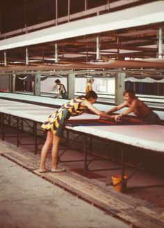 """covet garden - blog  Armi Ratia once said: """"I don't really sell clothes. I sell a way of living. These are designs, not fashions... I sell an idea rather than dresses."""" Marimekko,  60s behind-the-scenes snapshots of life at the factory and studio. Clearly having fun."""