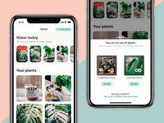 Potted In-app Purchases designed by Judah Guttmann. Connect with them on Dribbble; Ios Ui, Iphone App Design, Water Plants, Typography, Magazine, Letterpress, Letterpress Printing, Magazines, Aquatic Plants
