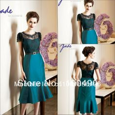 13446 customer made gowns Plus size TEAL and black vintage mother of the bride lace dresses with lace bolero 2013 $159.00