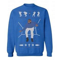 New New Ugly Drake Christmas Sweater 1-800 Hotline Bling Unisex... ($11) ❤ liked on Polyvore featuring grey and women's clothing