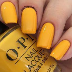 OPI Lisbon - Sun, Sea and Sand in My Pants Yellow Nail Polish, Yellow Nails, Opi Polish, Toe Nail Color, Fall Nail Colors, Get Nails, Hair And Nails, Runway Nails, New Nail Art Design