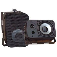 """PYLE PDWR40B 5.25"""" Indoor/Outdoor Waterproof Speakers (Black) from ManCaveGiant.com"""