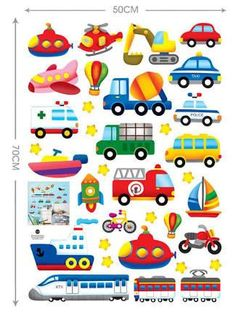 Transport Wall Sticker Display Sheet