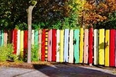 garden walls to cover ugly fencing - Google Search