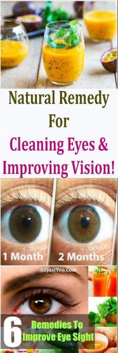 Try this natural remedy for cleaning eyes and improving vision. #eyes #vision #health