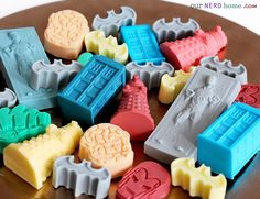 DIY Geek soap from ice cube trays