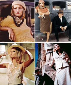 """Faye Dunaway as Bonnie Parker in """"Bonnie and Clyde"""", directed by Arthur Penn in 1967. Costume designer: Theodora van Runkle."""