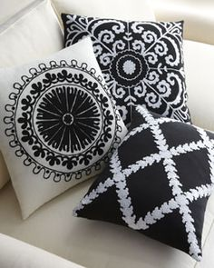 """-3JMM """"Samarkand,"""" """"Uzbek,"""" & """"Rangoli"""" Pillows"""