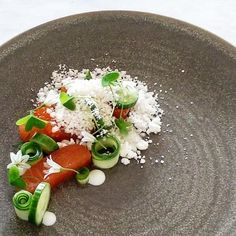 Try our delicious Cured Huon Salmon, horseradish & cucumbers recipe prepared with Huon Aquaculture products.