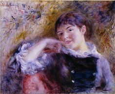 Pierre-Auguste Renoir, The Dreamer, 1879, Saint Louis Art Museum, Saint Louis, oil on canvas, 51,1 x 61,9 cm
