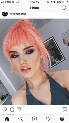 Unique neon peach hair color trends in 2019 00003 Peach Hair Colors, Coral Hair, Hair Color Pink, Pastel Hair, Cool Hair Color, Pastel Orange Hair, Pink Peach Hair, Pastel Pink, Hair Inspo
