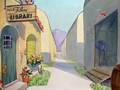 Animation Backgrounds: Warner Brothers