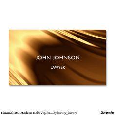 Minimalistic Modern Gold Vip Business Card