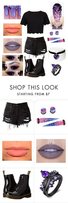 """""""Even When I Doubt You, I'm No Good Without You"""" by emo-roxanne ❤ liked on Polyvore featuring Hot Topic, Jeffree Star, Dr. Martens and Ted Baker"""