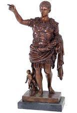 STATUE EN BRONZE 80cm EMPEREUR AUGUSTE DE PRIMA PORTA SCULPTURE IMPERATOR ROMAIN