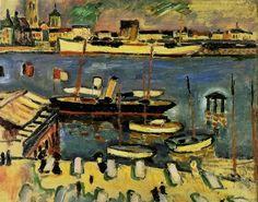 Georges Braque : Le bateau blanc