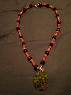 Sea Sed Jasper and Coral Necklace by SustainableJewellry on Etsy