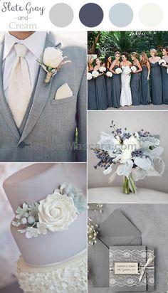 2016 trending slate gray and cream neutral wedding color ideas #weddings #wedding #marriage #weddingdress #weddinggown #ballgowns #ladies #woman #women #beautifuldress #newlyweds #proposal #shopping #engagement