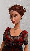 Doll costume - love the beaded bodice