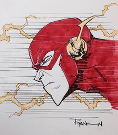 Flash by Ryan Ottley Batman Drawing, Marvel Drawings, Disney Drawings, Comic Book Artists, Comic Artist, Comic Books Art, Flash Comic, Marvel Art, Marvel Comics