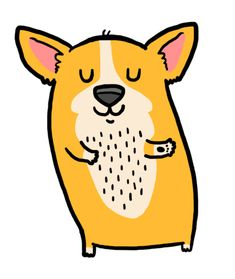Click the link to see the wiggle xD YAY!! HAPPY CORGI DANCE!! Love the butt wiggle.