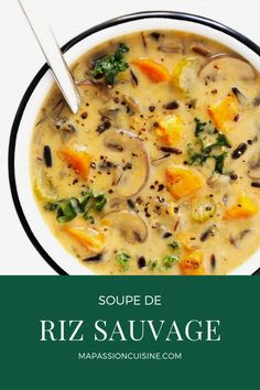 This Cozy Autumn Wild Rice Soup is the perfect fall comfort food! It's easy to m… This Cozy Autumn Wild Rice Soup is the perfect fall comfort food! It's easy to make in the Instant Pot (pressure cooker), Crock-Pot (slow… Continue Reading → Crock Pot Slow Cooker, Slow Cooker Recipes, Crockpot Recipes, Cooking Recipes, Healthy Recipes, Veggie Soup Recipes, Chicken Recipes, Sausage Recipes, Kitchen Recipes