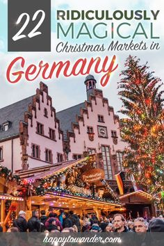 The BEST Christmas Markets in Germany - The most beautiful Christmas markets in Germany! These amazing Christmas markets are a must for any - German Christmas Markets, Christmas Travel, Holiday Travel, Christmas Fun, Beautiful Christmas, Christmas In Germany, Christmas In London, Best Christmas Markets Europe, Berlin Christmas Market