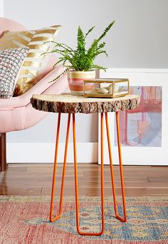 Poppytalk: 8 Rad DIYs to Try fantastic bright orange table legs