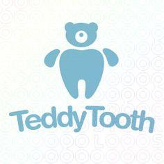 Teddy Tooth Bear Logo logo