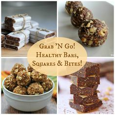 Grab 'N Go! Homemade Protein, Energy and Granola Bars!