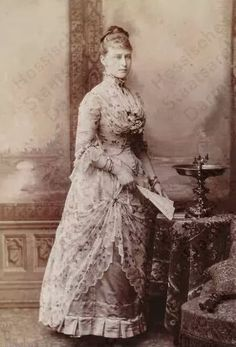 "Grand Duchess Elisabeth Feodorovna Romanova of Russia in 1887.  ""AL"""