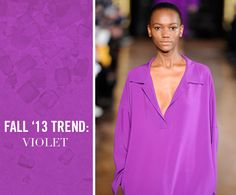 Violet - Fall Trend 2013 - great color story