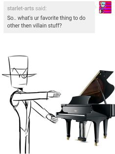 Black hat: play the piano Evil Children, Dr Flug, Villainous Cartoon, Man Crush Monday, Evil People, Character Aesthetic, Fandoms, Cartoon Network, Videogames