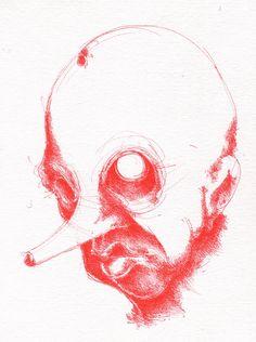pinocchio - drawing -2010