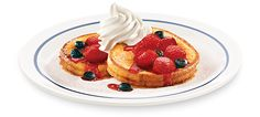 Fruity, flavorful, and a stack above the rest. Two thick cut slices of rich brioche bread dipped in a lightly sweetened vanilla batter and grilled to golden perfection. Topped with blueberries and sliced strawberries — then dusted with powdered sugar and whipped topping. Available as a combo.Ultimate Bacon