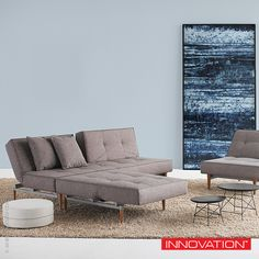With #lacqueredwoodlegs, Split Back multifunctional #sofabed  creates a classic modern feel to your living space. Available at loftmodern.com