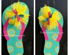 3d529200b Spring door hanger-Summer door hangerFlower door. magan t winstead · door  hangers · Flip Flop ...
