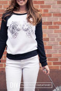 #diy tiger sweatshirt
