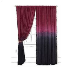 Wavering Ombre Curtain ❤ liked on Polyvore featuring home, home decor, window treatments, curtains, ombre window treatments, dip dyed curtains, ombre curtains and dip dye curtains