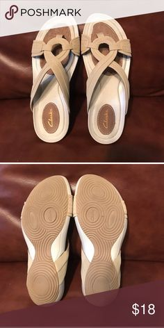 Clarks Sandals New. Nude color Shoes Sandals