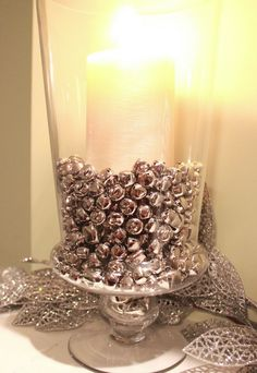 Super Easy DIY Christmas Decor Ideas - Jingle Bells  Vase Filler - Click Pic for 25 Christmas Craft Ideas