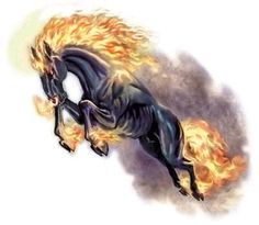 Share graphics with friends: fire horse