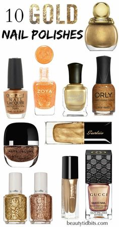 Best Gold Nail Polishes via @beautytidbits