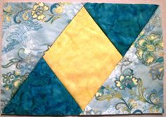 Quilted Mug Rugs Patterns | Quilting Tutorials: Free Mug Rug Pattern - pieced and quilted